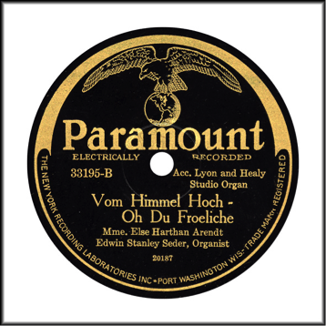 "Paramount Record Label: 1926-1932. The phrase ""Electrically Record"" came about in 1926 and the phrase ""The New York Recording Laboratories Inc."" came about in 1925. Note the black and gold coloring."