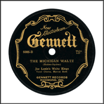 "Record Label: 1927-1930. Black and Gold. Note the phrase ""Electrobeam"""