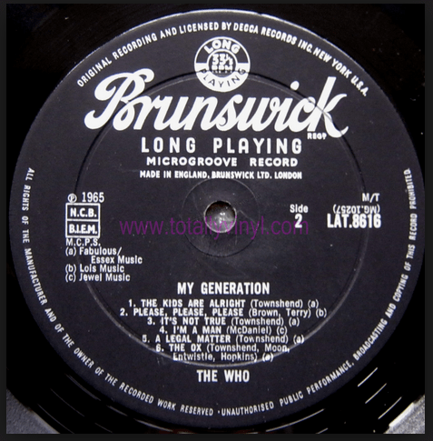 Brunswick LP The Who