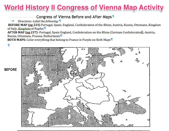 World history ii congress of vienna map activity patcosta congressofviennamapactivity world history ii sciox Choice Image