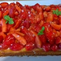 Dessert : Tarte aux fraises, inspiration Michalak