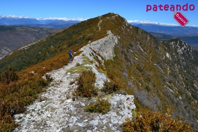 A pocos metros de la cima del pico Gabardiella