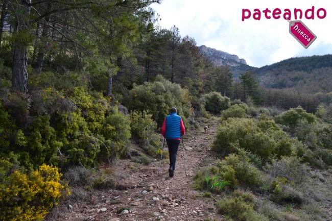 Inicio de la ruta hacia la Virgen de la Peña
