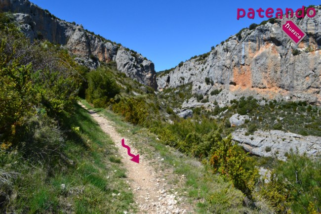 Camino hacia Alquézar