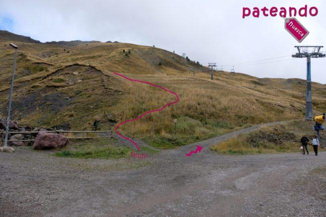Inicio de la ruta al Pico de los Monjes