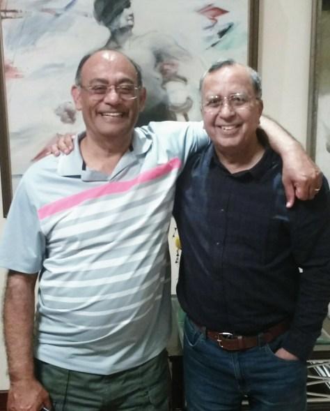 Ashok Saigal and Anil Mathur in Delhi, 29 Aug 2017