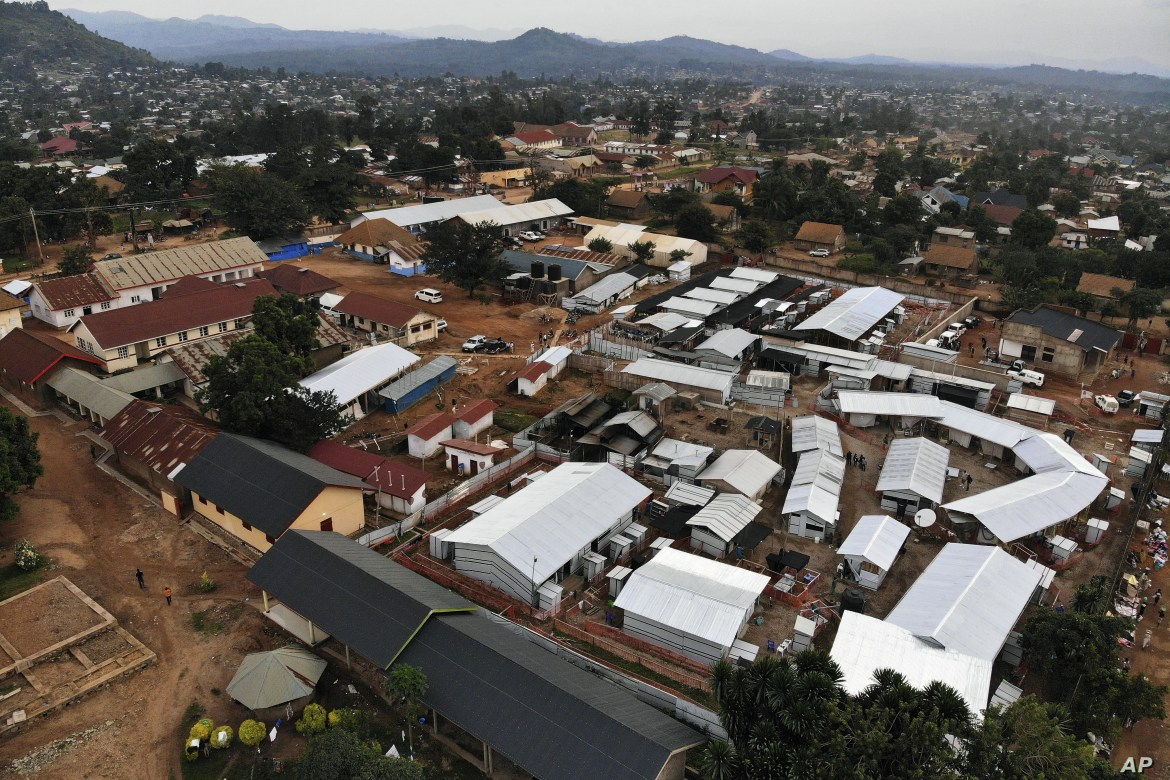 An Ebola treatment center is seen next to the hospital in Beni, Congo, July 13, 2019.
