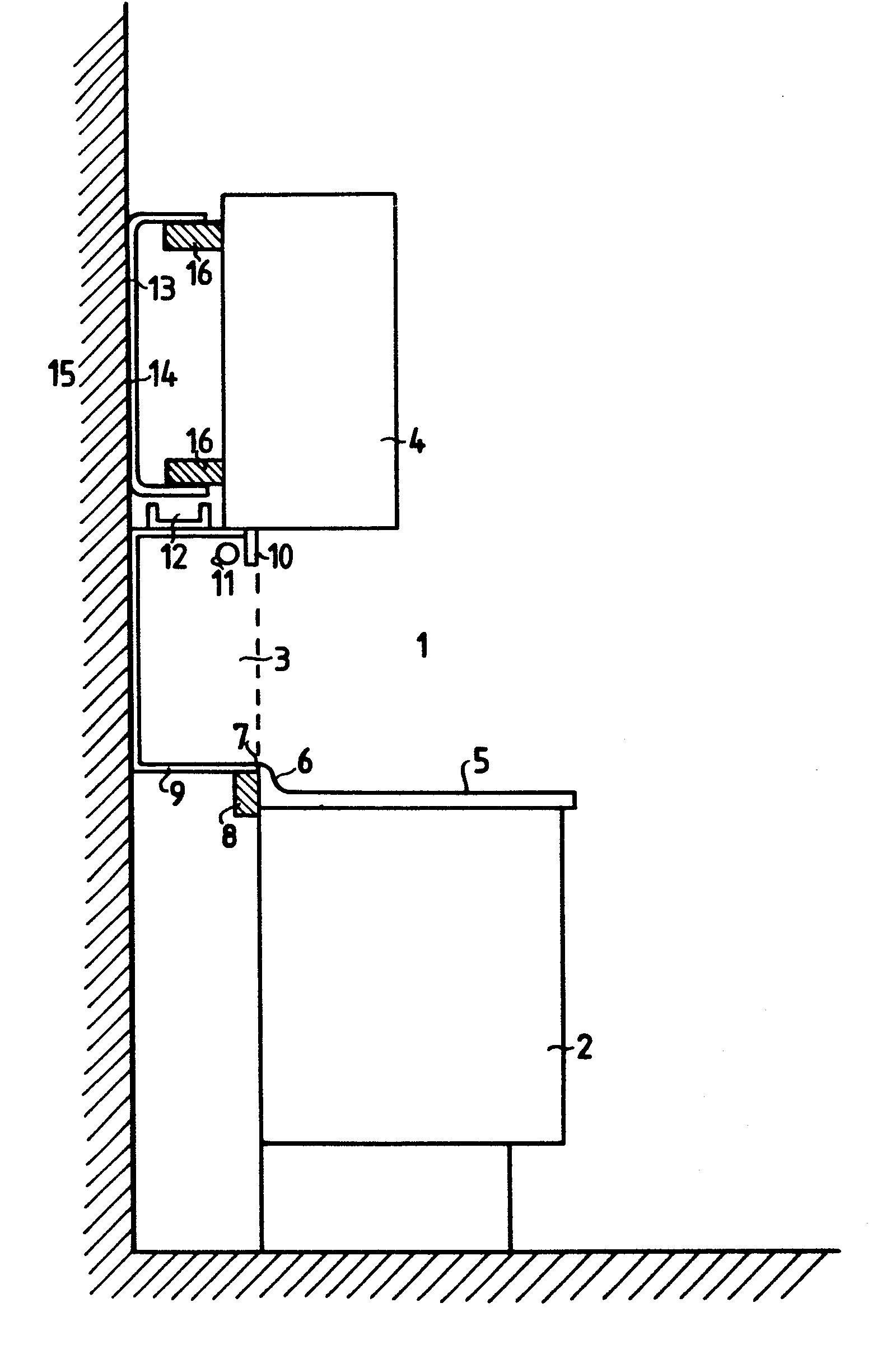 Patent EP0109119A1 - Einbau-Küchenmöbel - Google Patents