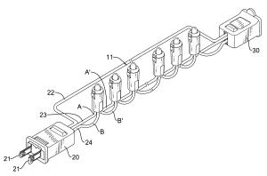Patent US20100296290  Ledbased christmas light string