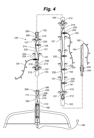 Patent US20130120971  Modular lighted tree  Google Patents