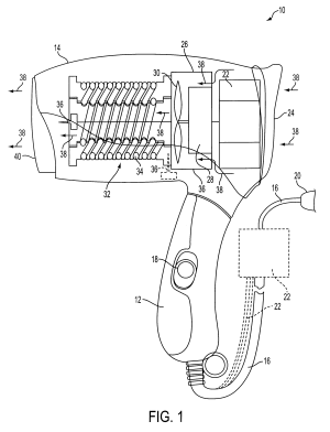 Patent US6191930  Ionizing hair dryer  Google Patents