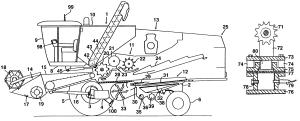 Patent US6192664  Harvester with crop flow rate sensor