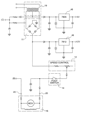Patent US6392460  Drive circuit for tattoo machine which