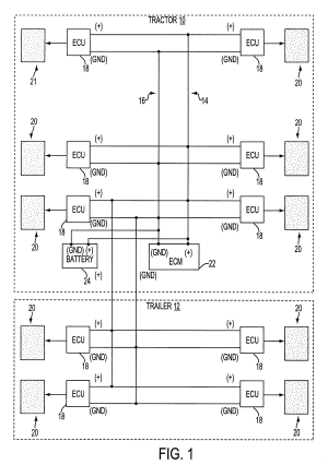Patent US6412880  Combined power supply and electronic control circuit for ABS  Google Patenten