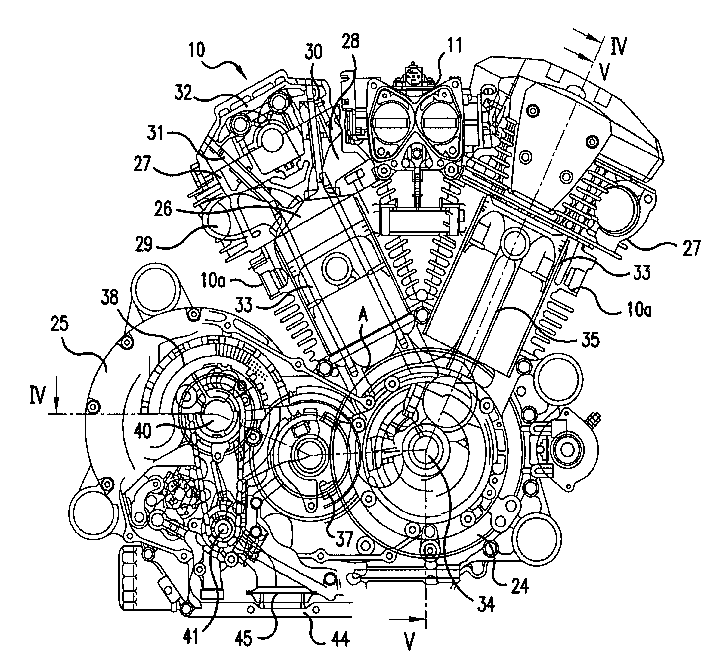 Harley Davidson Engine Cross Section Sketch Coloring Page