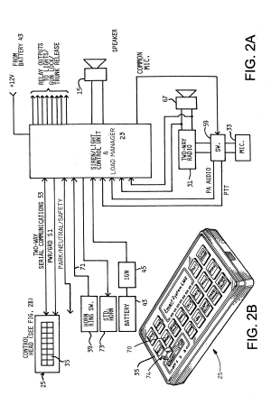 Patent US6778078  Integrated emergency signaling load