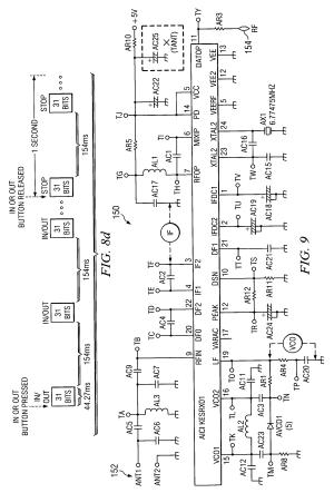 Patent US6995682  Wireless remote control for a winch