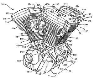 Patent US7134407  Vquad engine and method of