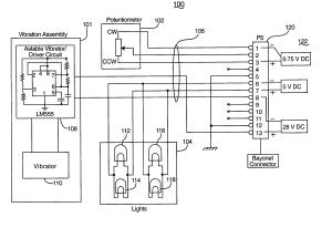 Patent US7176811  Pressure altimeter electrical testing