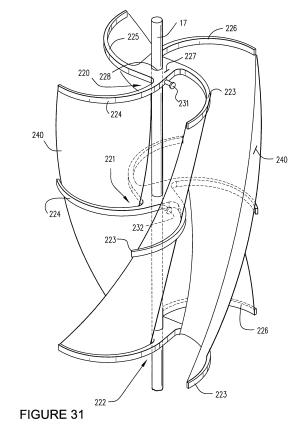 Patent US7775843  Wind turbine boats, watercraft drives