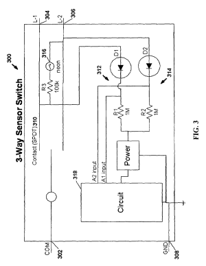 Patent US7791282  Motion sensor switch for 3way light