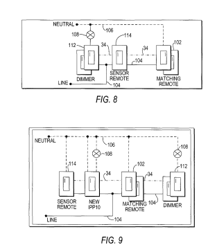 Patent US8018166  Lighting control system and three way