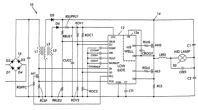 hid voltage lamp