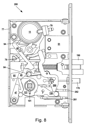 Patent US8292336  Mortise lock assembly  Google Patents