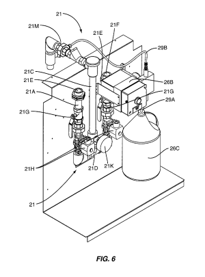 Patent US8378834  Kitchen hood assembly with fire suppression control system including