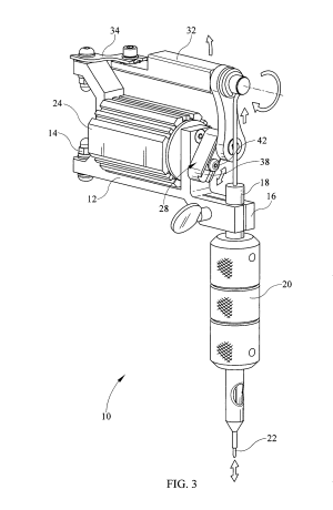 Patent US8522647  Eccentric gear for tattoo machine for