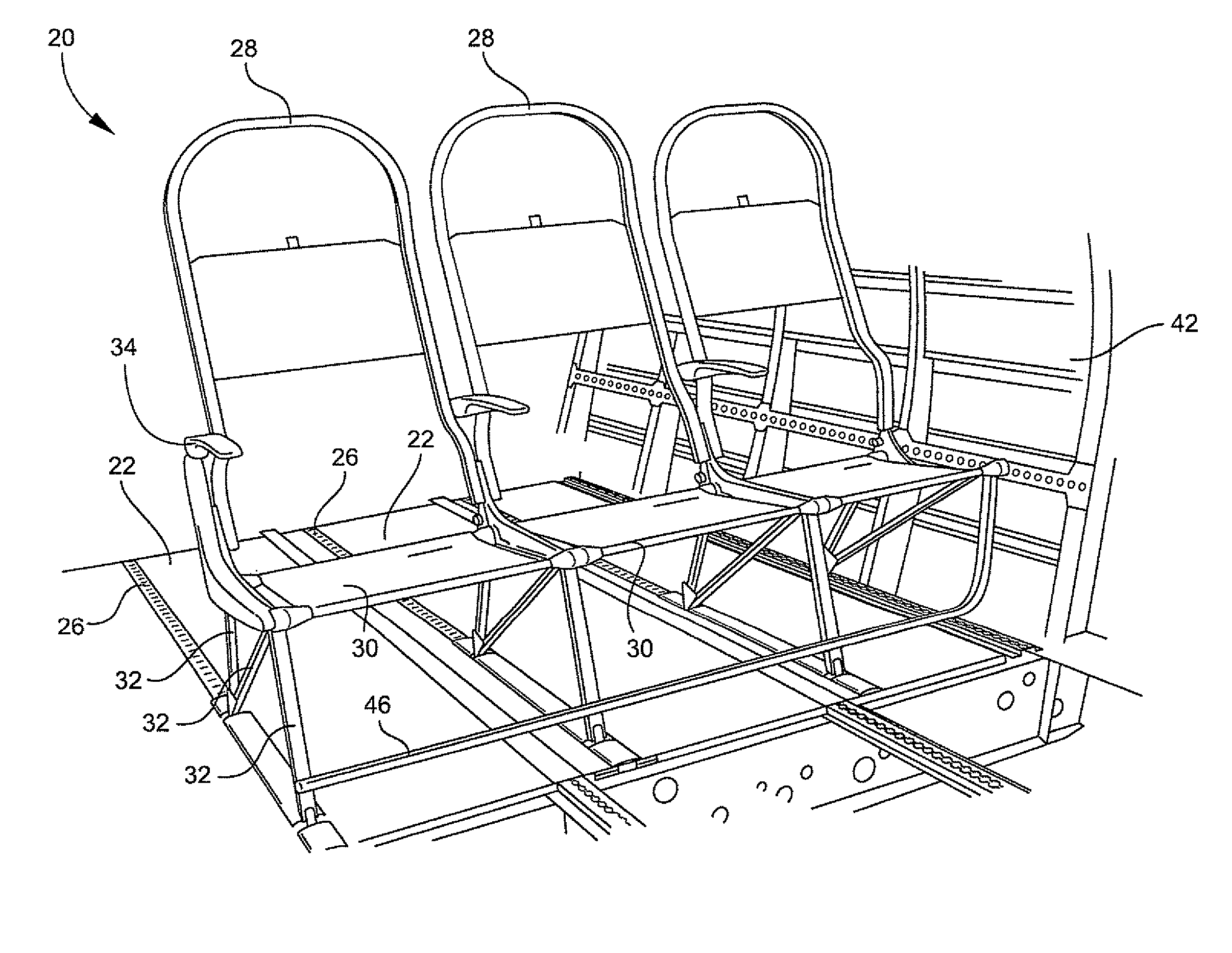 Patent us passenger seat assembly with associated