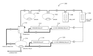 Patent US8731689  Networked, wireless lighting control