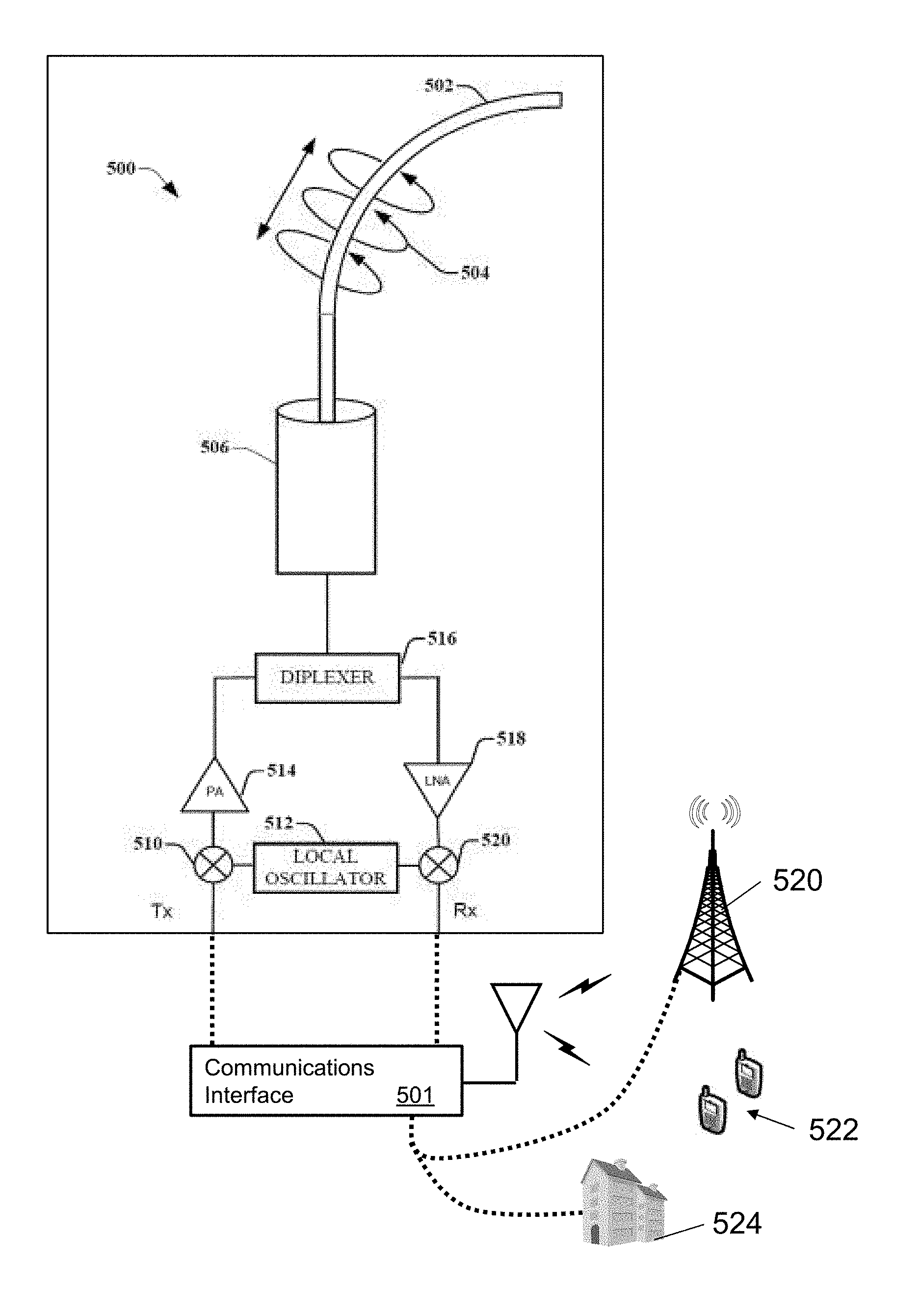 Us9876570b2 guided wave transmission device with non fundamental mode propagation and methods for use therewith patents