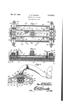 Original patent of Swimming Pool Cleaner Roy B. Everson
