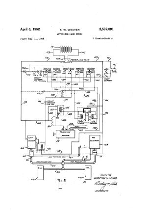 Patent US2592091  Motorized hand truck  Google Patents