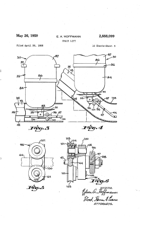 Patent US2888099  Chair lift  Google Patents