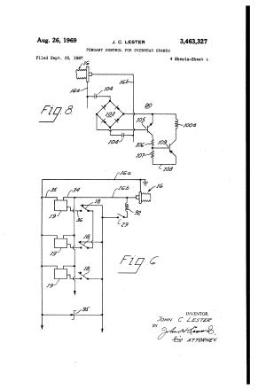 Patent US3463327  Pendant control for overhead cranes