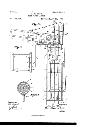 Patent US401623  Firetruck ladder  Google Patents