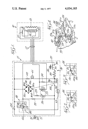 Patent US4034185  Electric blanket control circuit