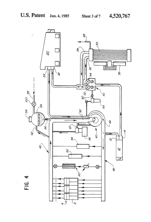 Patent US4520767  Low flow cooling system and apparatus  Google Patents