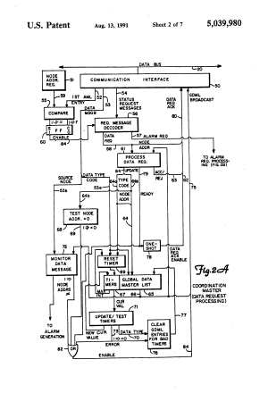 Patent US5039980  Multinodal munication work with