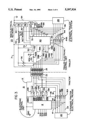 Patent US5397924  Truck tractor and trailer electrical munication system  Google Patents