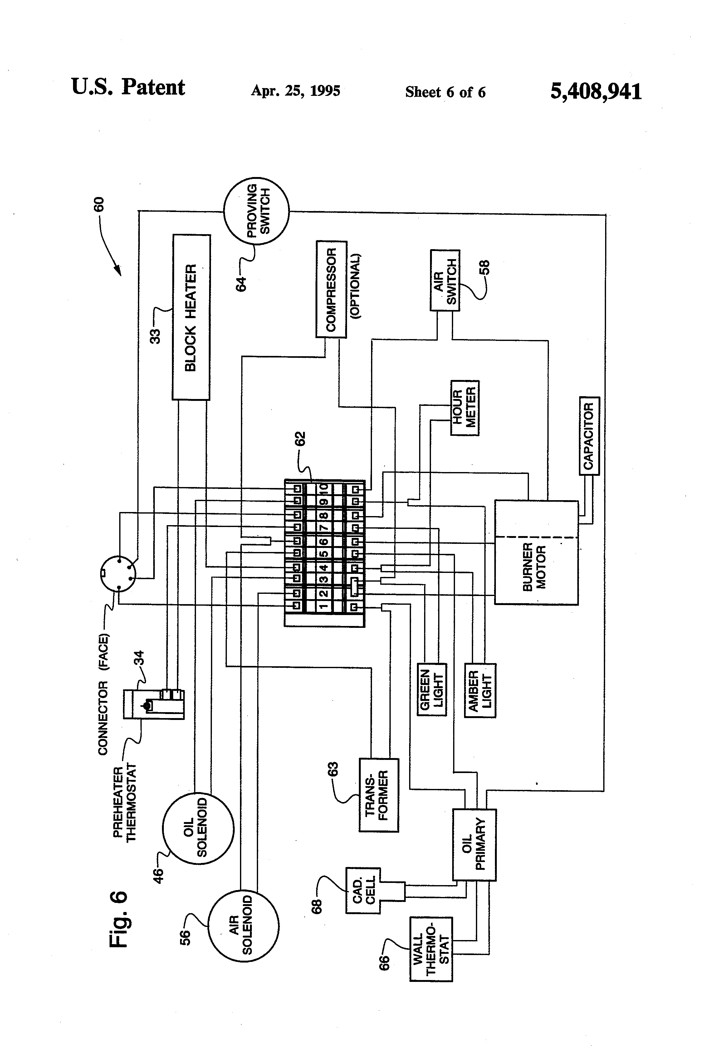 US5408941 6?resize\\\=665%2C977 honeywell ignition module wiring diagram lennox control board Furnace Wiring Diagram Older Furnace at fashall.co