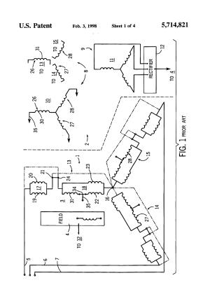 Patent US5714821  Alternating current generator with