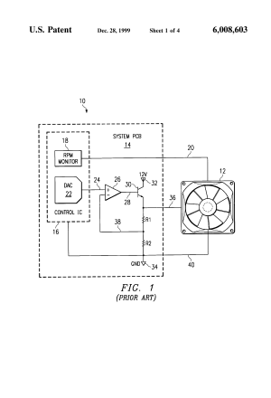 Patent US6008603  Brushless DC motor assembly control