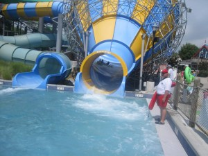 We got to the water park @ Hershey before people descended.
