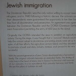Peurto Plata airport departure area - Jewish immigration plaque.