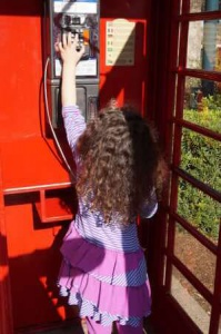 The British section of Epcot - sadly, my kids didn't know how to hang up a pay phone when they were done.