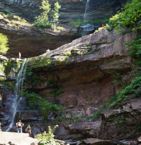 Kaaterskill Falls after the 1/2 mile hike