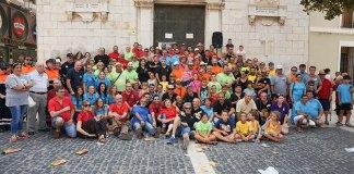 Foto de familia de la Mascletà Manual 2015